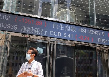 Stock Market Falls on Chinese Property Fears